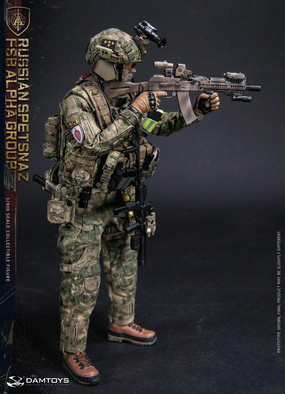 1//6 DAMTOYS 78047A Russian Spetsnaz FSB Alpha Group Figure Model Collection