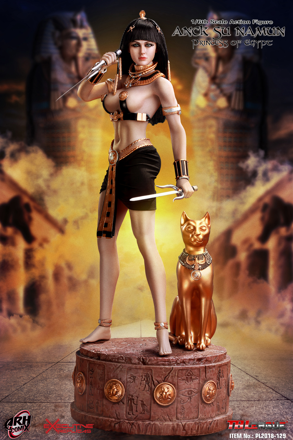 "1//6 TBLeague PL2018-129 Anck Su Namun Princess of Egypt 12/"" Figure Egyptian Mau"