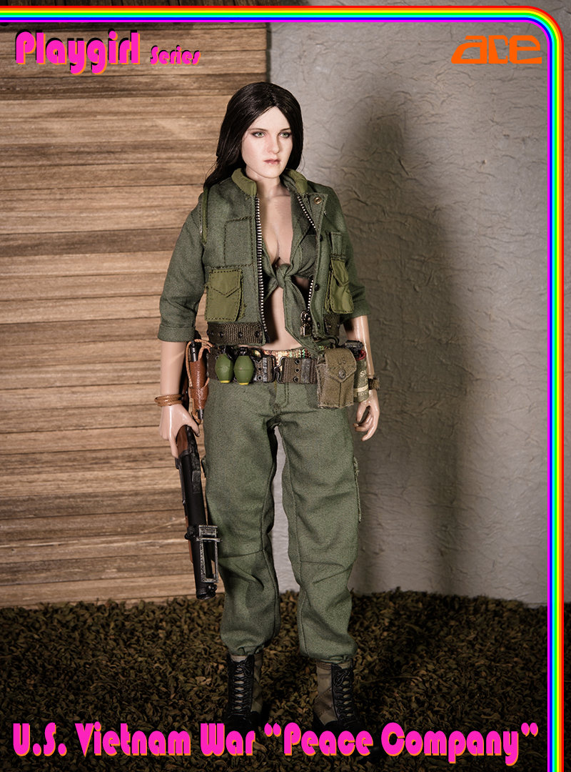 "ACE13034 ACE new product: Playgirl Series U S  Vietnam War ""Peace Company"""