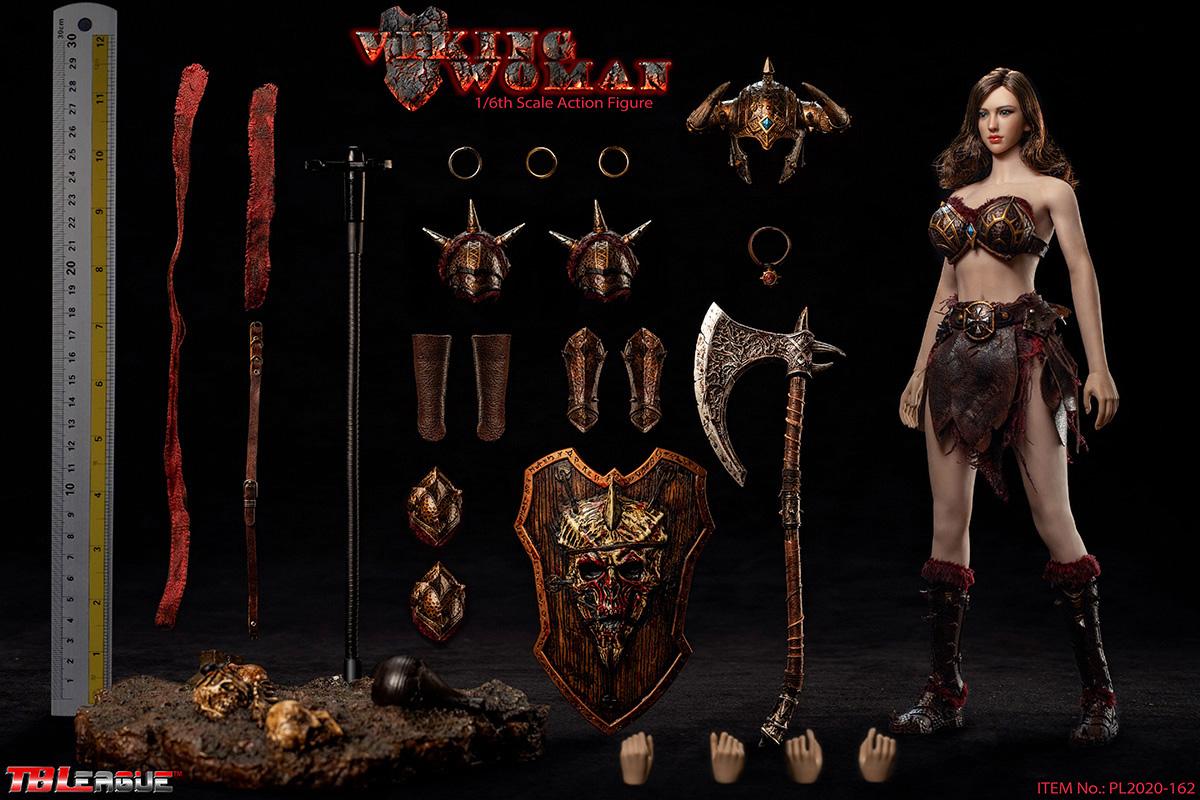 "TBLeague PL2020-162 1//6 Scale Viking Woman Leg Sleeves Model for 12/"" Figure"